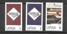 Latvia  (1993)  - Scott # 349 - 351