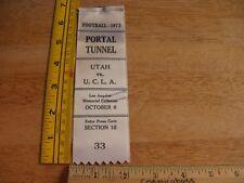 1973 UCLA vs Utah Football press pass ribbon Mark Harmon b