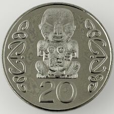 Rare New Zealand 1997 20 cents Hei Tiki from mint set mintage only 4150
