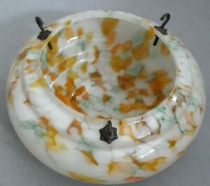 Art Deco/Retro Vintage Glass Ceiling Light Shade Glass Marble Effect