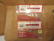 "Roboworm 4 1/2"" & 6"" Straight Tail Worm Assort, Plum Berry, 20 Total Worms (New)"