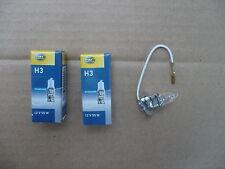 Birne Glühbirne Glühlampe Halogen H3 12V 55W PK22s von Hella neu 2 Stück
