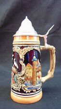 New listing German Beer Bier Stein with Lid French Cities Riquewihr Alsace Colmar France
