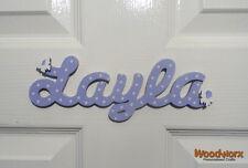 Personalised Names Wooden Name Plaques / Door Sign / Bedroom Door Butterflys #17