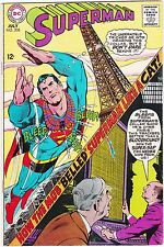 """SUPERMAN #208 / 1968 / HOW THE MOB """"BELLED"""" SUPERMAN LIKE A CAT!"""