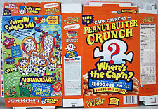 2000 Cap'n Crunch Pbc Where's The Cap'n Cereal Box unused factory Flat s173