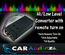 Quality 2-Channel High Low Level RCA Line Output Converter  with Remote Turn On