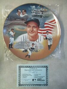 VINTAGE 1987 LOU GEHRIG SPORTS IMPRESSIONS 1 of 10,000 COLLECTOR'S PLATE IN BOX