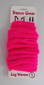 Legwarmers Plain Ribbed Pink Ladies Teens Race For Life Accessory KA1577 WN