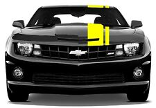 "NEW Chevy CAMARO 2"" & 8"" Rally Double RACING STRIPES Gloss Yellow vinyl Decal"