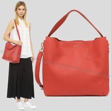 NWT🌺 Furla 992760 B BHE6 QUB Capriccio Leather Hobo Shoulder Bag Vermiglio Red