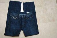 Blue Denim DIESEL INDUSTRY 008FI Buttonfly QURATT Straight Leg Jeans 30 x 32