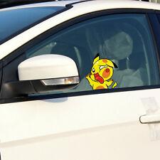 Squashed Pikachu Cute Car Decal Pokemon Cartoon Sticker Waterproof Window Laptop