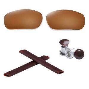 New Walleva Fire Red Polarized Lenses + Earsocks + Bolts For Oakley Jawbone