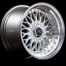 JNC 004 17X10 4X100/4X114.3 +25 SILVER MACHINED LIP 1 WHEEL/RIM
