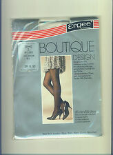 gemusterte Ergee Nylon-Strumpfhose 45 den*Gr. 38-40*wollweiss*Collant*Tights*(92