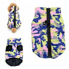 XXS Chihuahua Teacup Size Army Camo Padded Dog Pet Coat Clothes Puppy Clothing