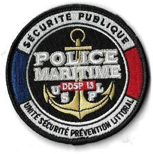Ecusson Police Maritime DDSP 13 U.S.P.L Marseille Unité Sécurité Police Littoral