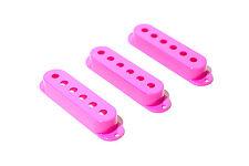 Cubiertas pastillas single coil rosas - Pink Single Coil covers Set 50/52mm