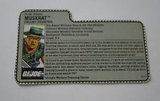 1988 Muskrat G.I. JOE COBRA File Card Vintage Original