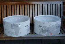 Lampenschirme Motiv Kontinente, Ø 50cm, Farbe creme beige grau, Pendelleuchte