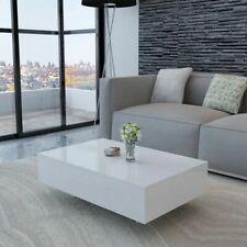 vidaXL Table Basse Haute Brillance Blanc Table de Canapé Table de Salon Meuble