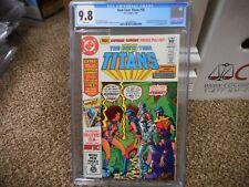 New Teen Titans 16 cgc 9.8 1st appearance Captain Carrot Cyborg Robin Starfire W