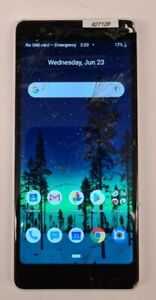 Nokia 3.1 C  - 32GB - Snow White cricket works great clean esn Cracked Screen