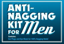 Anti-Nagging Funny Gift Kit For Men (Novelty relaxation / moaning present)