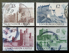 GREAT BRITAIN #1230-1233 used 1988 castles up to £5. 2018 SCV $7.50