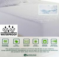 KING SIZE 40CM EXTRA DEEP WATERPROOF QUILTED MATTRESS PROTECTOR DOUBLE SINGLE