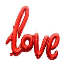Lettre D'amour Feuille Hélium Ballon Mariage Fiançaille Décor De Fête Rouge
