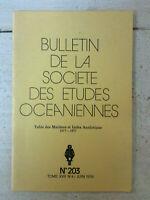 Bulletin de la Société des Etudes Océaniennes * N° 203 / Juin 1978