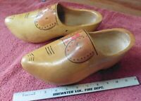 Women's Dutch Wooden Clogs Shoes Size 7 Holland Vintage Hand Painted Signed