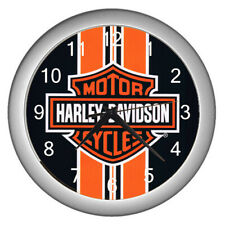 Hot Harley Davidson orange Line Logo wall clock