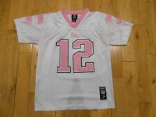Reebok TOM BRADY White Pink Girls NEW ENGLAND PATRIOTS NFL Youth Jersey XL
