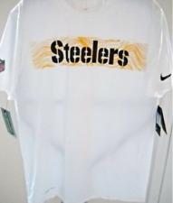Nike NFL Football Pittsburgh Steelers Men's Dri-fit White Graphic T-Shirt