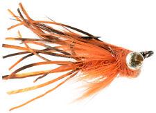 Fly Fishing Flies (Bream, Carp, Bass, Bonefish) UV Carp Leggs Orange (6 flies)