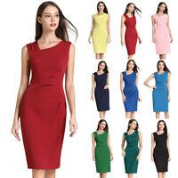 Women Work OL Bodycon Dress Ladies Slim Office Summer Pencil Formal Sundress US