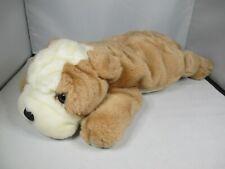 2001 Ty Beanie Buddies - Wrinkles Bulldog Dog - LARGE Soft Plush Stuffed Toy