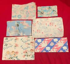 Lot Of Vintage Baby shower Wrapping paper 6 different patterns