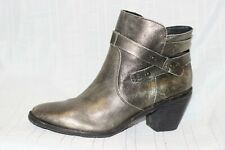 OTBT Brexar Gold Metallic Leather Ankle Booties Boots Women 11 M