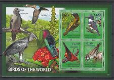 Grenadines of Grenada 2011 MNH Birds of World I 4v M/S Kingfisher Plover Weaver
