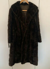 Stunning Vintage Real Fur Long Coat UK Size 12/14