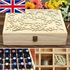 70 Slots Wooden Essential Oil Storage Box Case Organizer Aromatherapy Holder UK