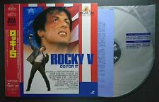 ROCKY 5 1990 NJL-54158 Sylvester Stallone Jaoanese Laserdisk W/OBI w/Tracking#