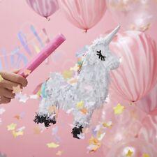 White Mini Unicorn Pinata Childrens Girls Birthday Party Game Decoration Favours