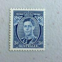 APD562) Australia 1937 KGV 3d Blue Die I Perf 13 1/2 x 14 MUH