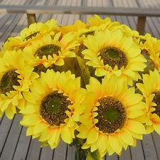 BU_ 1Pc Home Garden Fence Decoration Fake Flower Big Artificial Sunflower Unique