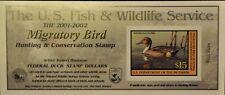 U. S. (#Rw68A) 2001 Federal Duck Stamp. Post Office Fresh